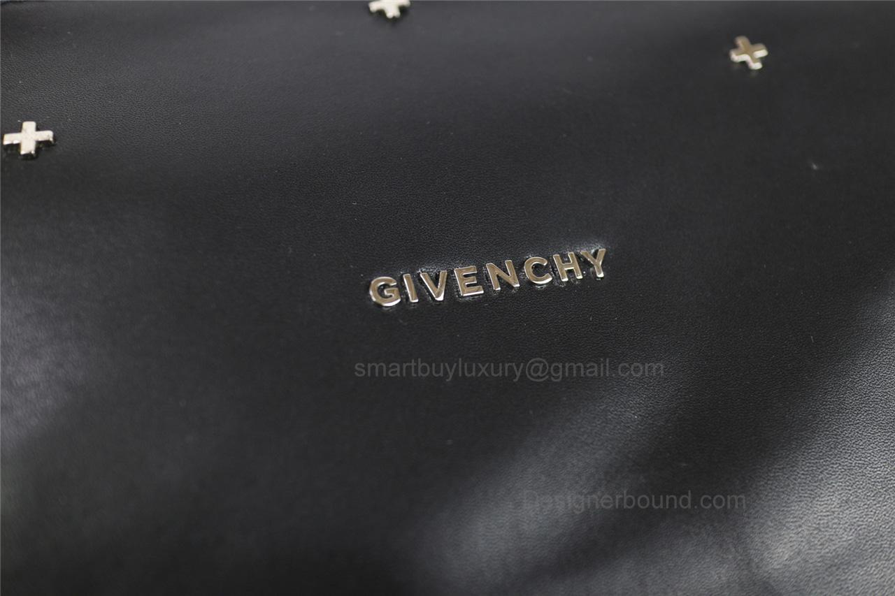 38d12e695091 Givenchy Pandora Large Handbag in Black Lambskin with Crossstud ...