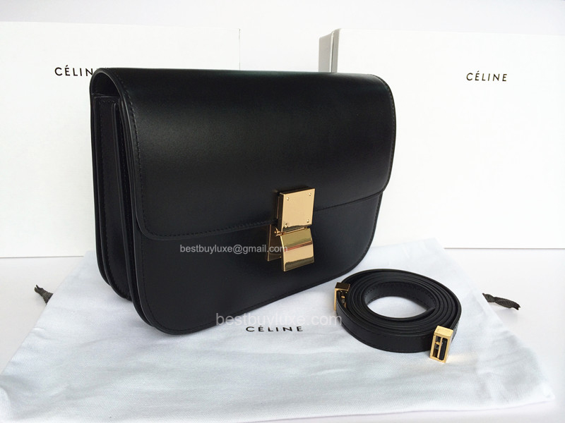 buy imitation handbags - AAA Best Quality Replica Celine Mini Box Flap Bag Black - Replica ...
