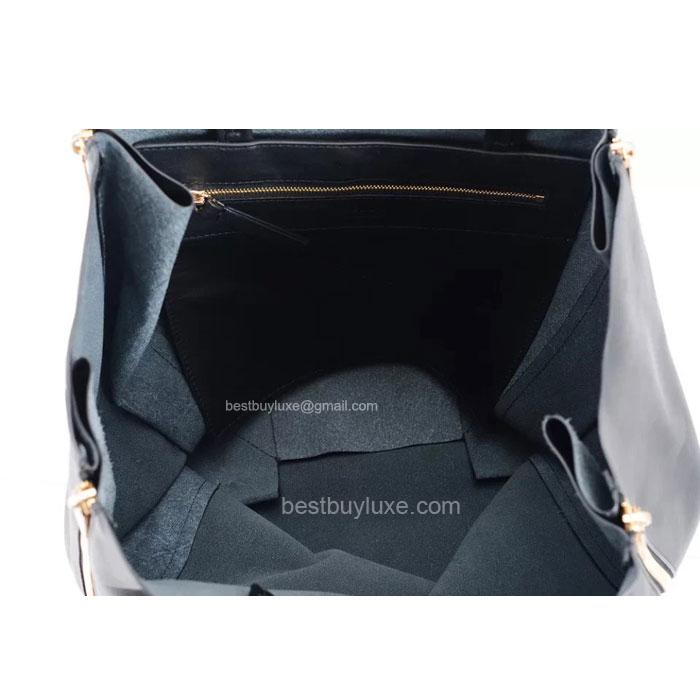 Replica Celine Cabas Gusset Handbag In Black Lambskin - Replica Celine
