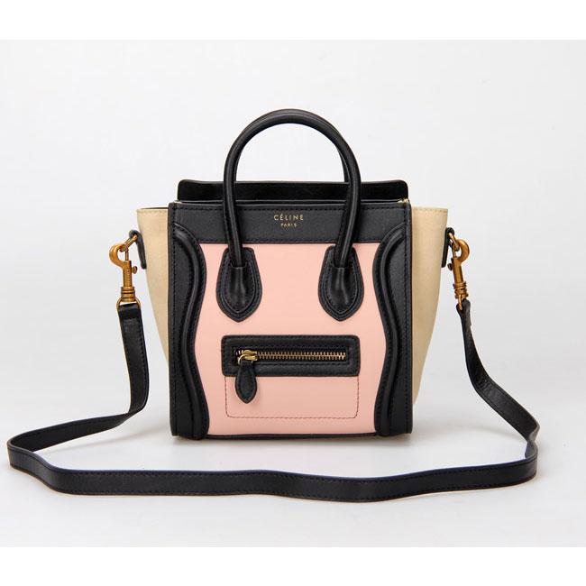 Celine Luggage Nano Multicolor Pink 8010296 - designerbound.com