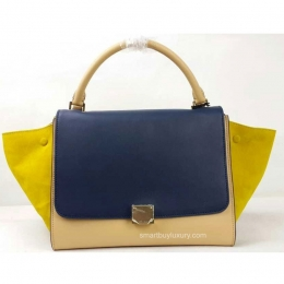 High Quality Replica Celine Bag Trapeze Multicolor in Suede Yellow ...