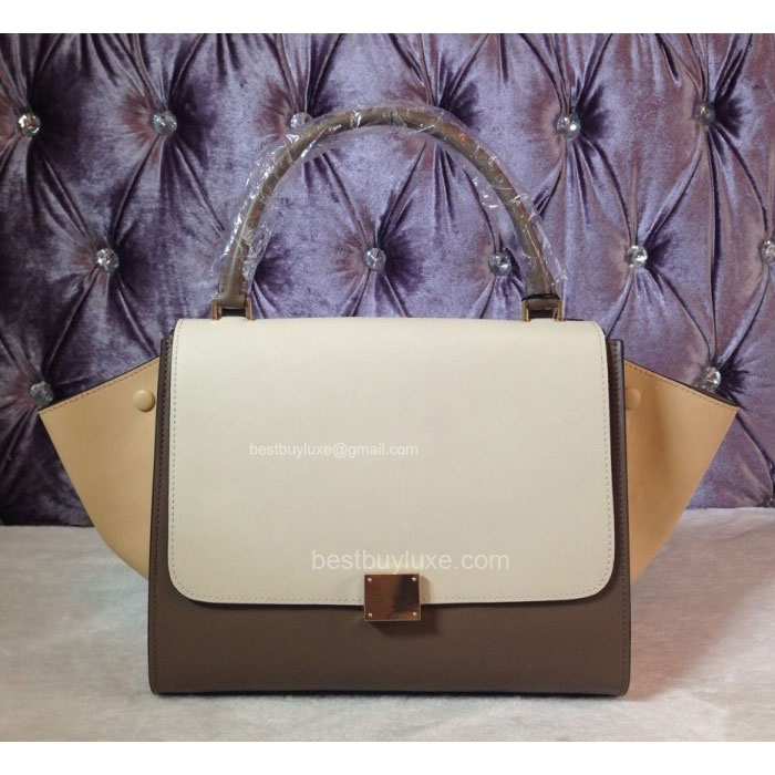 Super Quality Celine Trapeze Bag Multi in Beige Calfskin