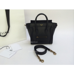 celine buy online - Celine 7 Star Replica Luggage Nano Bag in Calfskin Black - Mirror ...