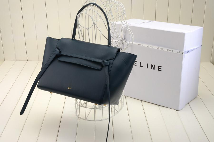 Replica Celine Belt Bag in Navy Blue Calfskin - Replica Celine