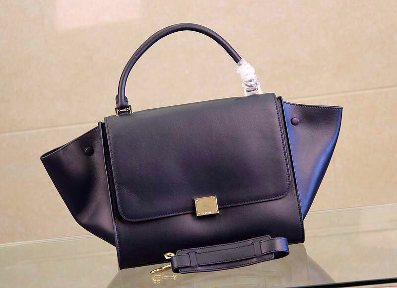 Celine Trapeze in Smooth Calfskin Deep Blue
