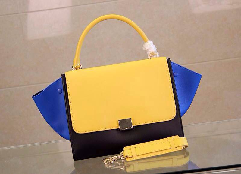 Celine Trapeze Bag Multi in Mango Calfskin