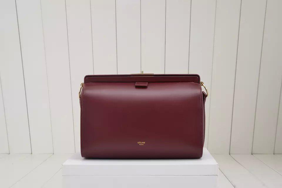 d0f673295bea Celine Mini Doctor Bag in Bordeaux Calfskin - Replica Celine