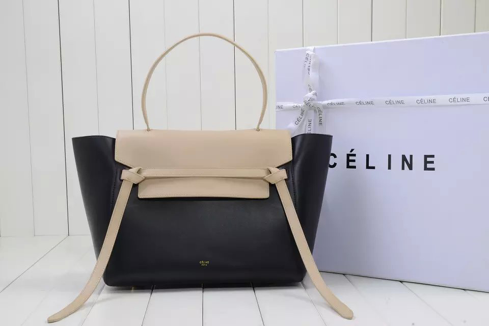 celine leather bags - Replica Celine Belt Knot Large Bag in Beige Multicolour Calfskin ...