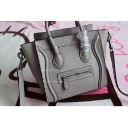 celine nano price - Celine Nano Luggage Handbag in Grey Calfskin - Replica Celine
