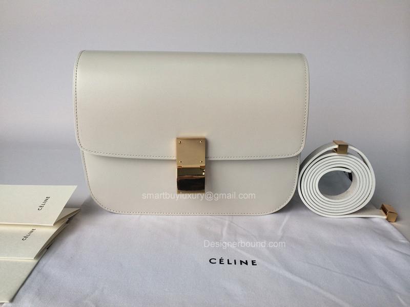 8e74d1ca853f Celine Classic Box Bag Medium Ghost white Best Replica -