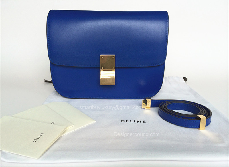 cd6eb33ee3fb Celine Box Bag Medium Electric Blue Best Replica -