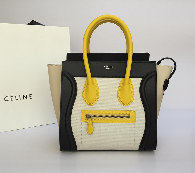Celine Micro Luggage Yellow