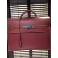 Hermes Kelly Depeche 38 Briefcase Dark Red Swift Leather Handstitched