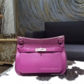 Hermes Jypsiere 34 Large Bag Anemone P9 Taurillon Clemence Handstitched