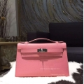 Hermes Mini Kelly Pochette 22 Epsom Leather Rose Confetti Handstitched