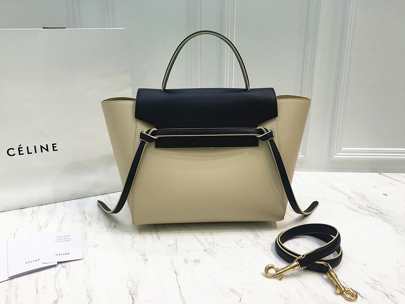 Ultimate Replica Celine Small Belt Bag Multi in Beige Calfskin