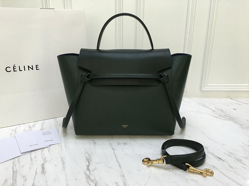 Ultimate Replica Celine Small Belt Bag Multi in Green Goatskin