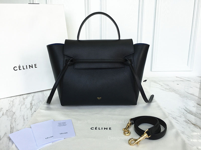 Ultimate Replica Celine Small Belt Bag Multi in Black Goatskin