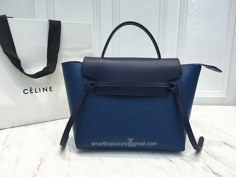 Ultimate Replica Celine Small Belt Bag Multi in Sea Blue Goatskin