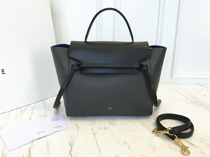 Ultimate Replica Celine Small Belt Bag Multi in Dark Taupe Goatskin
