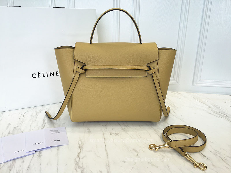 Ultimate Replica Celine Small Belt Bag in Vanilla Baby Grained Calfskin