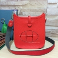 Hermes Evelyne III Bag in Hot Red Togo Leather TPM