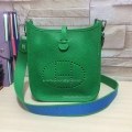 Hermes Evelyne III Bag in Green Togo Leather TPM