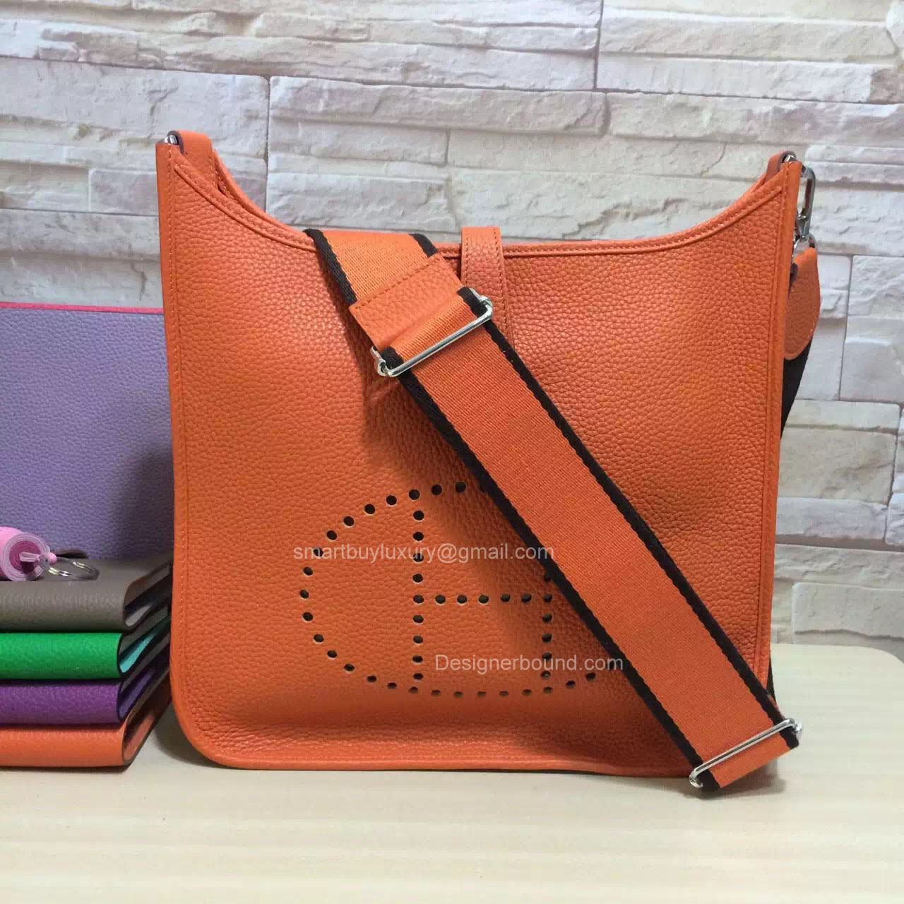 Hermes Evelyne III Bag PM in Orange Togo Leather