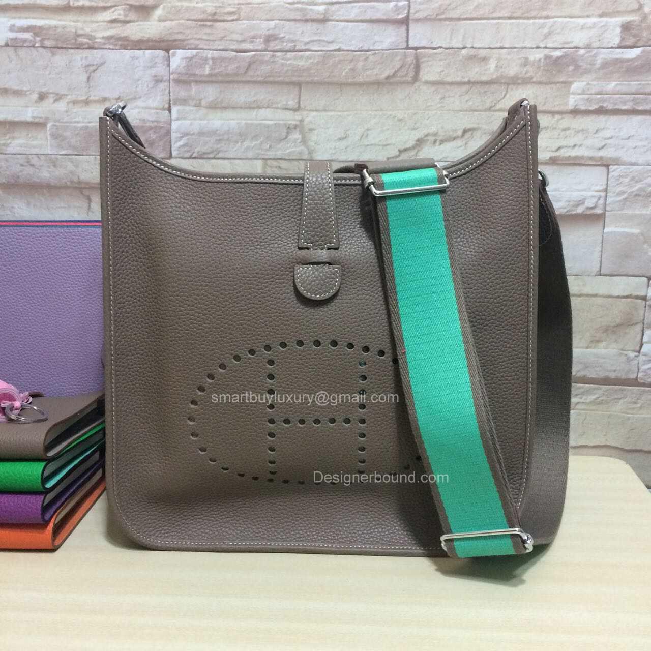 usl briefcase hermes - Hermes Evelyne III Bag PM in Etoupe Togo Leather -