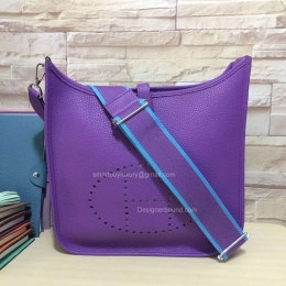 Hermes Evelyne III Bag GM in Purple Togo Leather