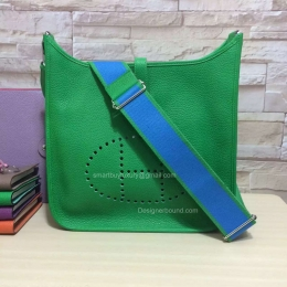 Hermes Evelyne III Bag GM in Green Togo Leather