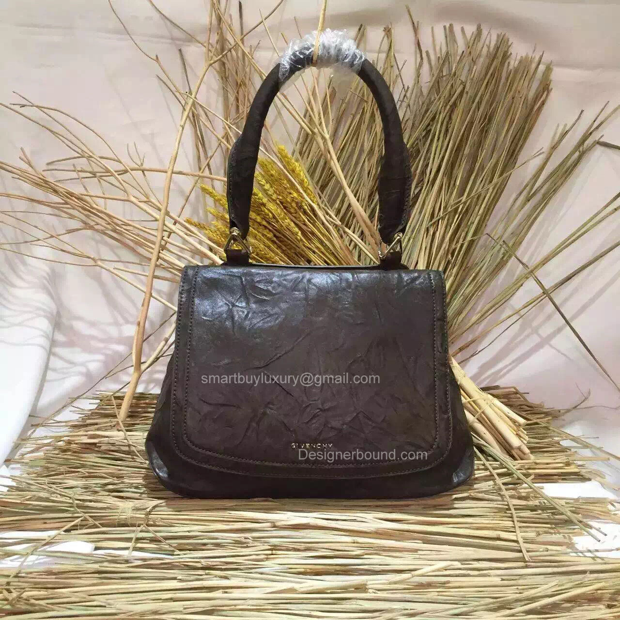 Givenchy Large Mirte Saddle Bag Khaki 285176