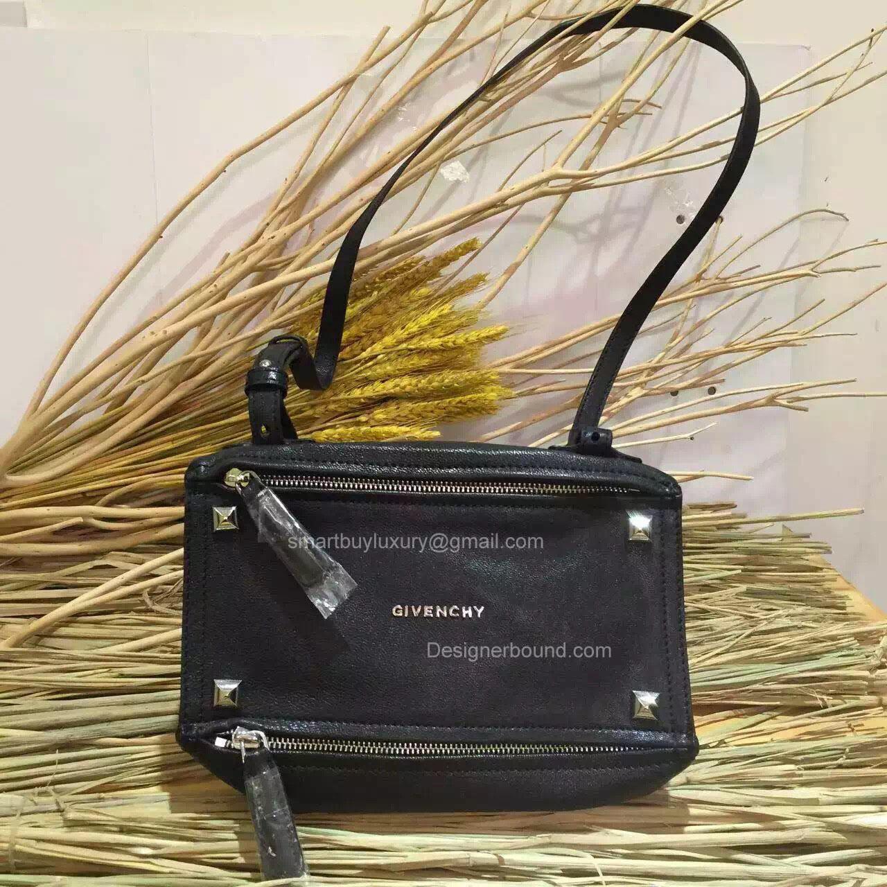 a234813196ee Givenchy Pandora Mini Messenger Studed Bag Black 285172. Givenchy ...
