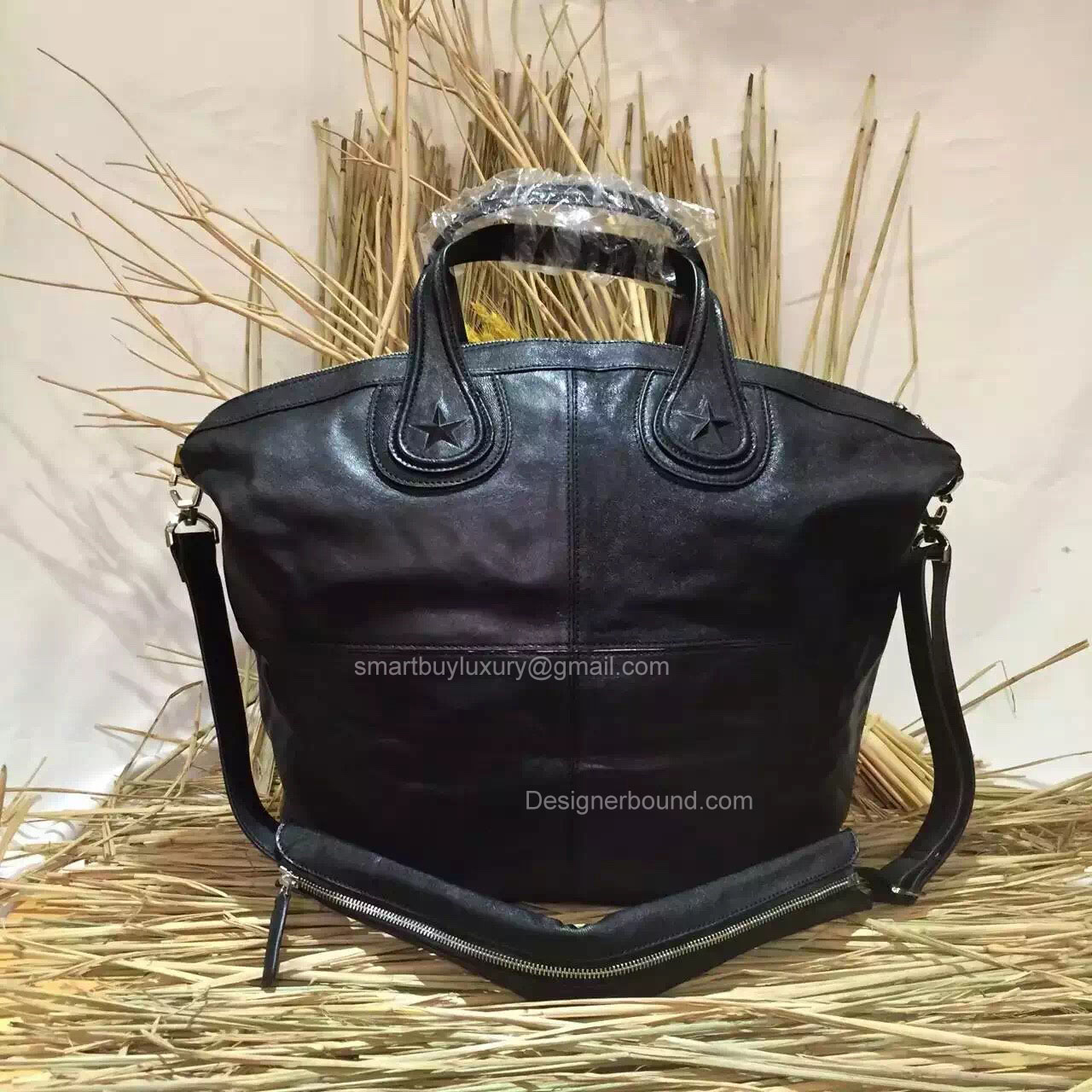 f872d13983 Givenchy Nightingale Medium Bag in Black Lambskin 285160