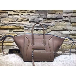 Fake Celine Medium Luggage Phantom Bag in Chocolate Baby Grained Calfskin