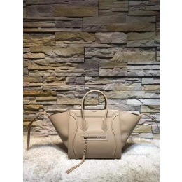 Fake Celine Medium Luggage Phantom Bag in Beige Baby Grained Calfskin