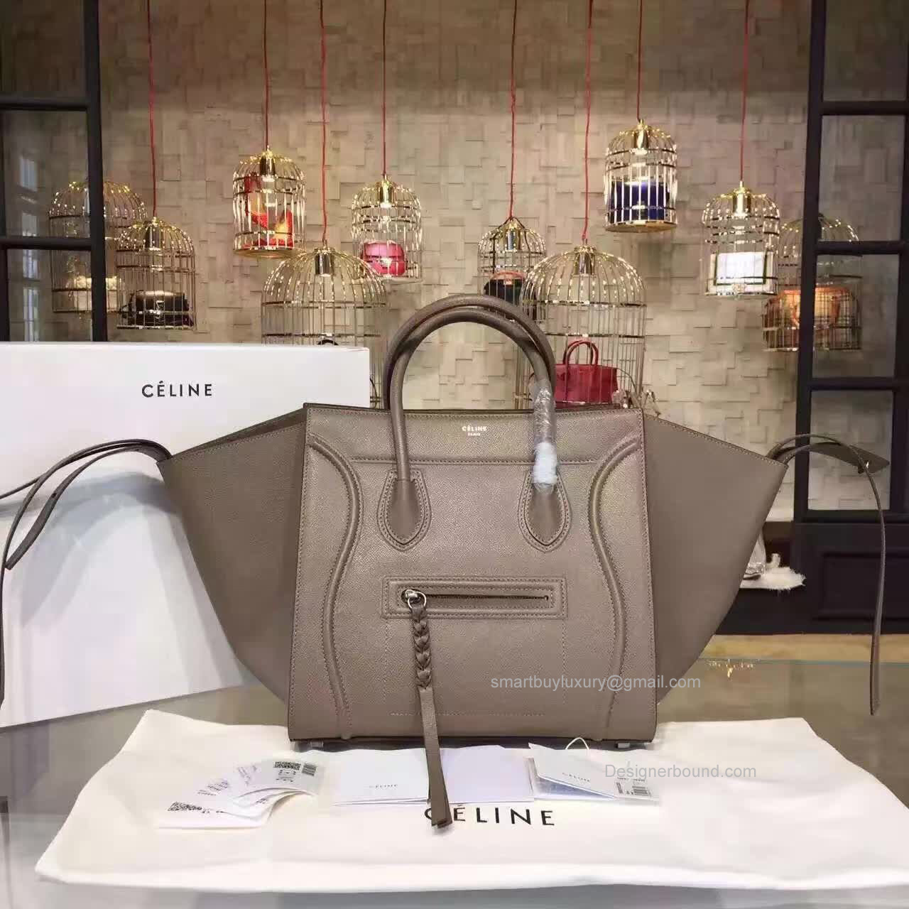 Fake Celine Medium Luggage Phantom Bag In Chocolate Epsom Calfskin