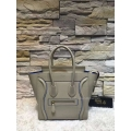 Replica Celine Mini Luggage Bag with Interstice in Light Grey Smooth Calfskin