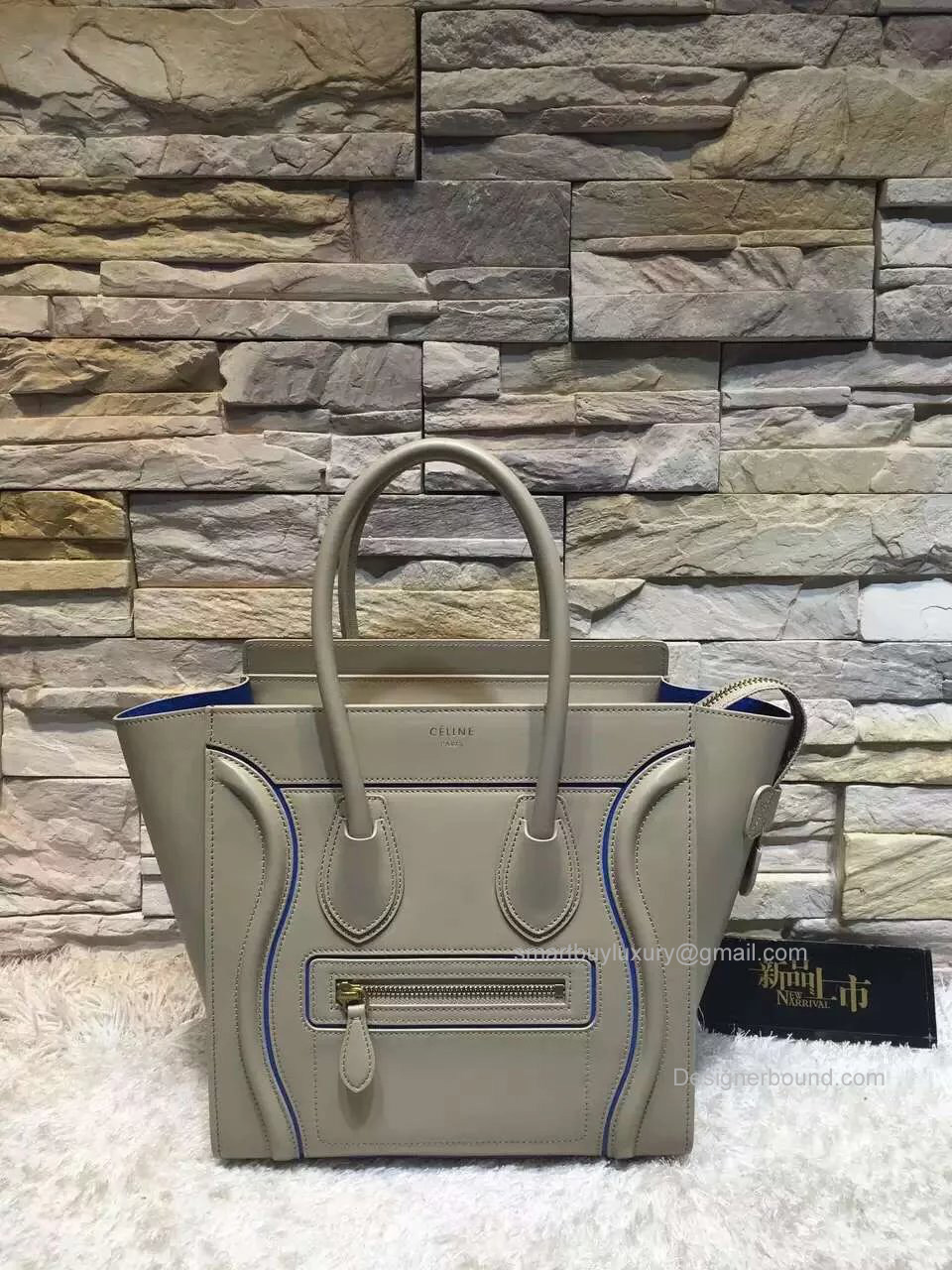 celine tote bag for sale - Replica Celine Micro Luggage Handbag with Interstice in Light Grey ...