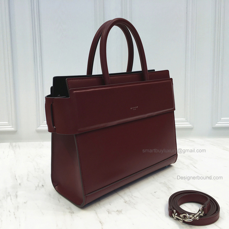 Replica Givenchy Horizon Small Bag in Burgundy Smooth Calfskin
