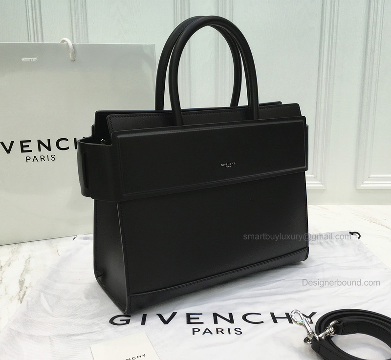 Replica Givenchy Horizon Small Bag in Black Smooth Calfskin