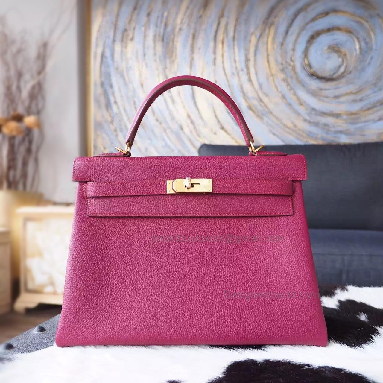 bcfacf31e24 Replica Hermes Kelly 28 Handmade Bag in k5 Tosca Togo Calfskin GHW -