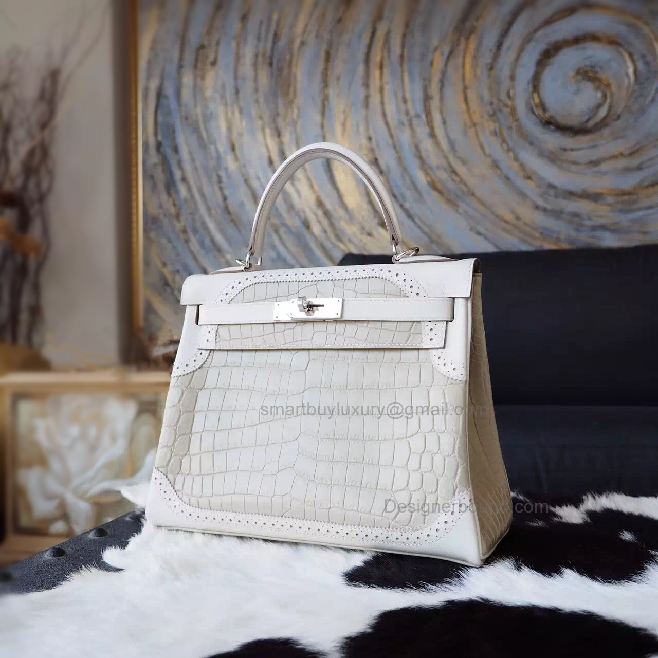 2fbb8e29bca3 Replica Hermes Kelly 28 Ghillies Bag in 8L Beton Leather GHW