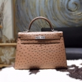 Replica Hermes Kelly 32 Bag Handmade in ck32 Etrusque Ostich PHW