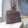 Replica Hermes Kelly 32 Bag Handmade in ck18 Etoupe Shining Niloticus Croc