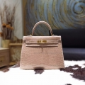 Replica Hermes Kelly 28 Handmade in ck18 Etoupe Shining Niloticus Croc GHW