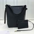 Replica Celine Small Twisted Cabas in Midnight Blue and Dark Green Calfskin