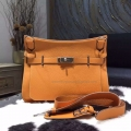 Handmade Hermes Jypsiere 34 Copy Bag in 9u Moutarde Clemence Calfskin