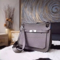 Handmade Hermes Jypsiere 28 Copy Bag in Bilcolored 8f Etain Clemence Calfskin