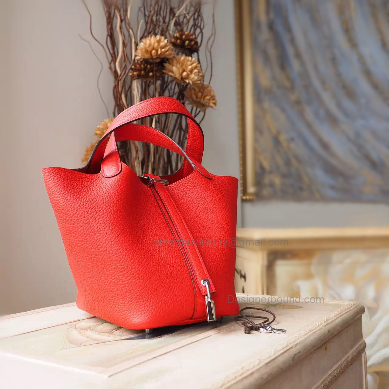 Replica Hermes Picotin Lock 22 Bag Handmade in s5 Rouge Tomate Clemence